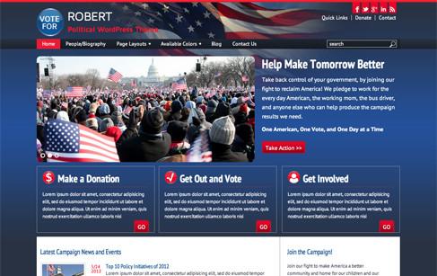 Robert | Political WordPress Theme | Campaign themes