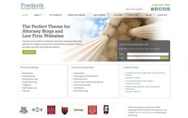 Frederik: A Law WordPress Theme