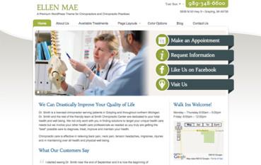 Ellen Mae: Chiropractor WordPress Theme