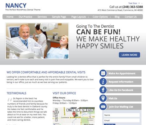 Nancy   Dentist WordPress Theme   Dental WordPress Themes