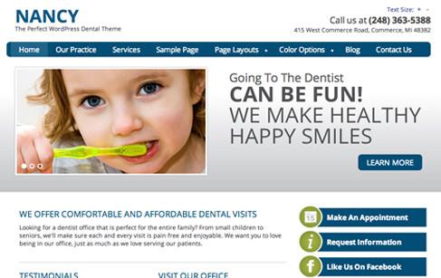 Nancy: Dentist WordPress Theme