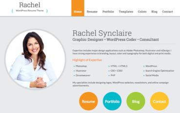 Rachel: WordPress Resume Theme