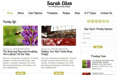 Sarah-Ellen – Genesis-Blog-Template