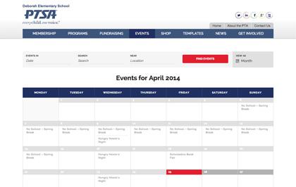 Deborah PTA Event Calendar