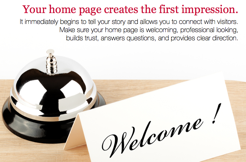 Your Home Page Creates the First Impression