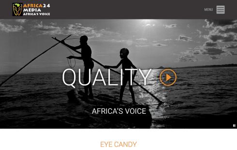 Africa 24 Media Website