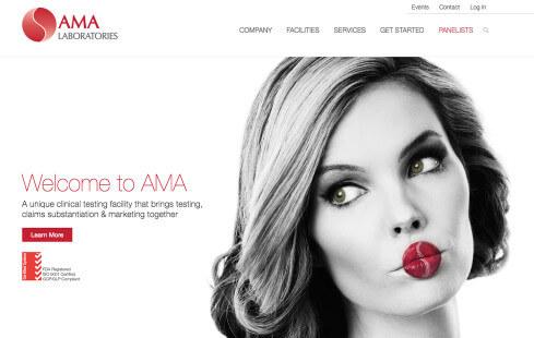 AMA Labs Website Design