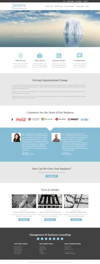 James – Consulting WordPress Theme