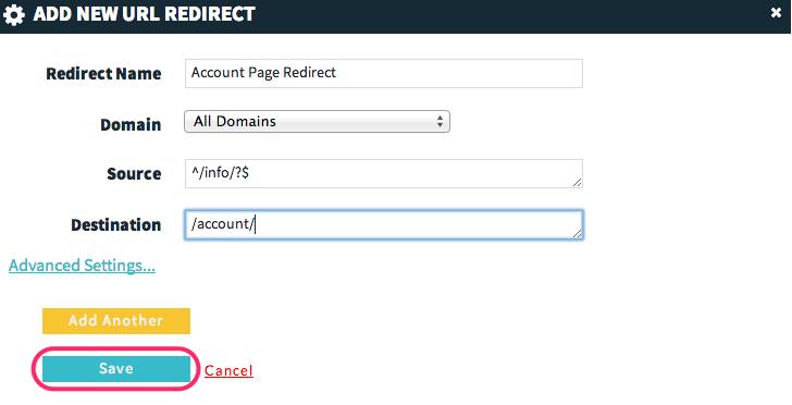 WP Engine 301 Redirect Example